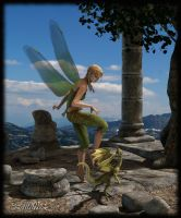 Fairy and little Dragon dancing by LillithI
