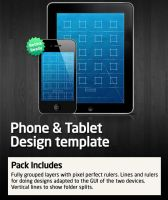 iPhone iPad Design Template by kned