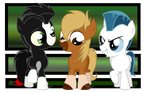 Khan, Philippe and Pegasus as three Little Ponies by Arceus55