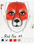 Red Fox makeup sketch #1 by toberkitty