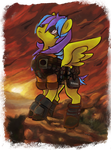 Tez  OC of Fallout Equestria Commission by Kna