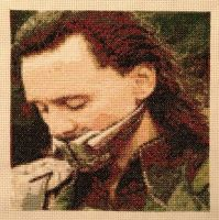 Loki cross stitch avatar complete by TiNkErKaT