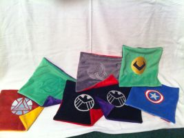 Avengers pillows unstuffed by PlanetPlush