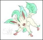 Fighting Leafeon, colored by SulfuricAcid