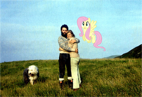 Paul, Linda and Fluttershy by Bronyman1995
