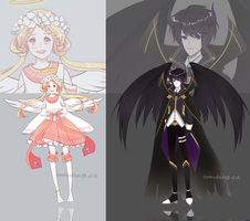 [ADOPT 112-113][SET PRICE][OPEN]ANGEL AND DEMON by tomiden