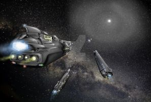 OC Ominiue: Colonyships Approuching Destination by dmbarnham