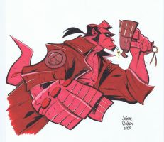 Fridolfs Hellboy by tygertailzz