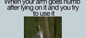 when your arm goes numb... by PandahHero