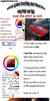 :: Blood Effect Tutorial on Paint Tool SAI :: by Sangrde