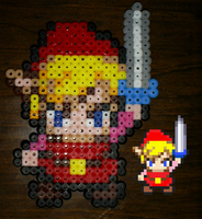 Perler+Hama Red Link by SoniConan