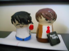 Homemade L and Light Clay Figures by Cartoonsforever
