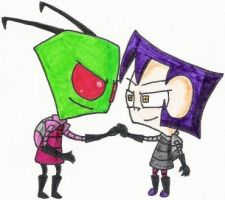 Zim and Gaz Unite by nintendomaximus