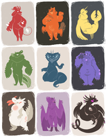 Scribbledopts: $15 each! by vaegrant
