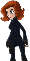 Black Widow by jellybeansoup