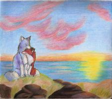 Sunset Snuggle by Joava