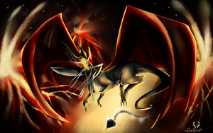 Lagiacruss, the dragon ! by Melymphe