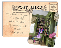 Pony Postcard - Twilight Sparkle by selinmarsou