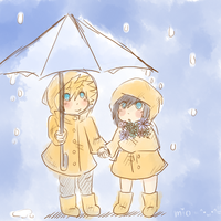 *standing in the rain* by Sketchy-Cat