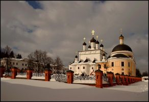 Cold morning. March. Monastery by Nickdan