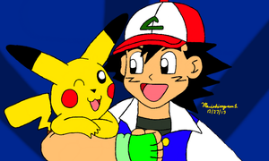 Ash and Pikachu by MarioSimpson1