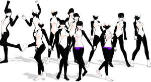 MMD Furry Nakao Bases by 2234083174