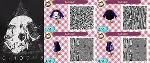 Animal Crossing QR Code - Cat Skull Long Sleeve by Vidimus78