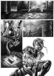 Psylocke comic page grayscale by cric