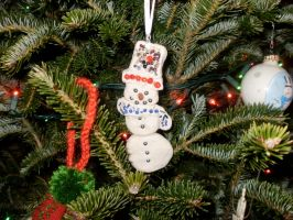 Snowman,Ornament,Cookie,Homemade by FoxiArtist