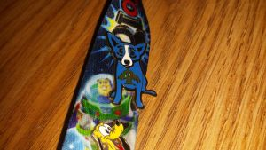 Blue dog pin by Akitas237collections