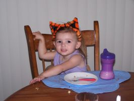 Little Tiger Cleaned Plate by Thora-T