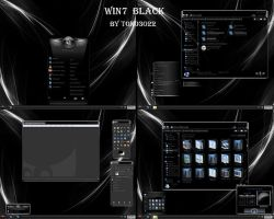 windows 7 theme black glass by tono3022