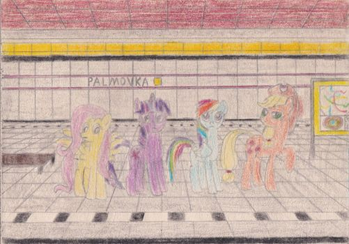Ponies at station Palmovka by Tails-CZ