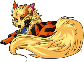 Arcanine and Carl by fudge