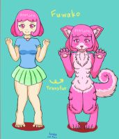 Fuwako to half dog by henka0119