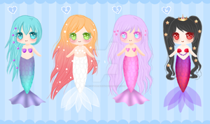 Adoptables - Mermaid Pack _CLOSED by BeckyTheBunny