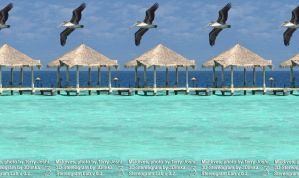 Maldives, 3D-Stereogram by 3Dimka