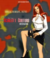 Scarlett Couture Comic store promotion card by DESPOP