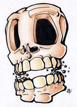 flash - skull by abomb-in-nation