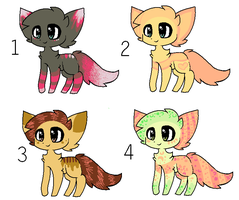 Cat adoptables 4 ALL TAKEN by xXPeppiXx