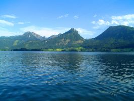 The Attersee on a Clear Day by Mk-Photo