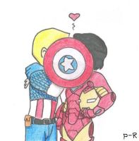 Cap 'n' Iron Man by pixie-rings