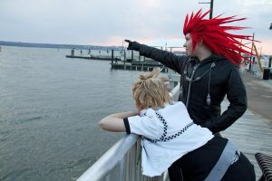 Axel and Roxas on the Pier by ArcadiaEclipse