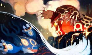 Kyogre and Groudon