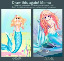 2011-2014 Meme: before and after by Anary
