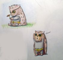 Nite Owl dos chibis by sithdragon42