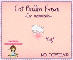 Cat Ballon Kawaii by ChrissQuintanilla