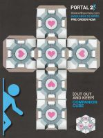 Make a Companion Cube by supersmeg123