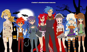 Halloween 2011 - TTGL by XxHoshiNoKodomoxX