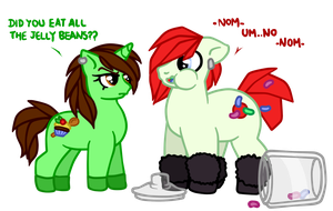 Amz and Mint - Who ate all the jelly beans? by DiesIstPanda